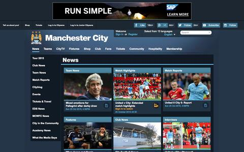 Screenshot of Press Page mcfc.co.uk - Manchester City News | Features | Match Reports & Tickets News - Manchester City FC - captured Oct. 27, 2015