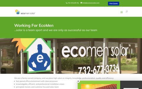 Screenshot of Jobs Page ecomensolar.com - Careers - EcoMen Solar - captured Nov. 4, 2018