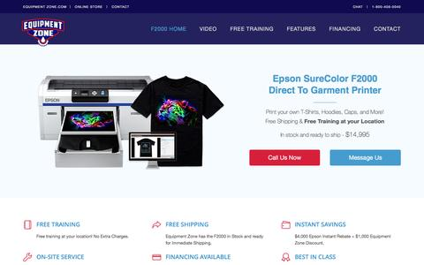 Epson F2000 DTG Printer - Direct To Garment Source | Equipment Zone