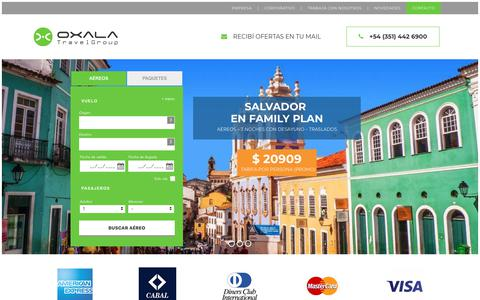 Screenshot of Home Page oxalatravelgroup.com - Oxala | Travel Group - captured Sept. 21, 2018