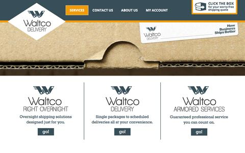 Screenshot of Services Page waltcoinc.com - Services - Waltco, Inc. - captured Oct. 7, 2014