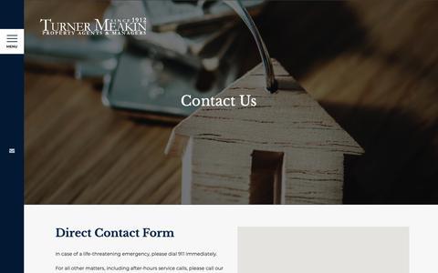 Screenshot of Contact Page turnermeakin.com - Contact Us - Turner Meakin - captured May 29, 2019