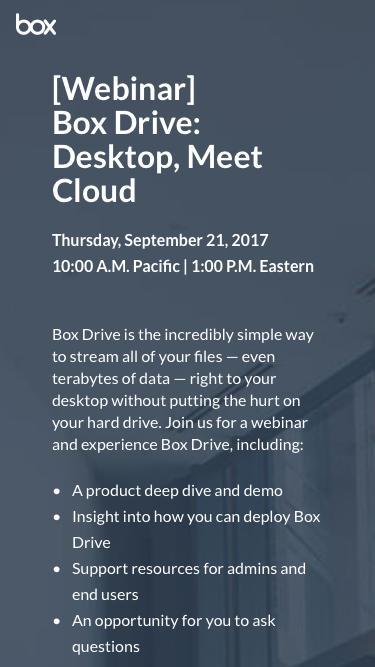 Box Drive: Desktop, Meet Cloud