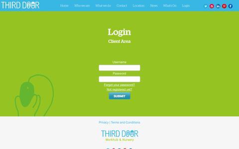 Screenshot of Login Page third-door.com - Login - Third Door - captured Oct. 7, 2014
