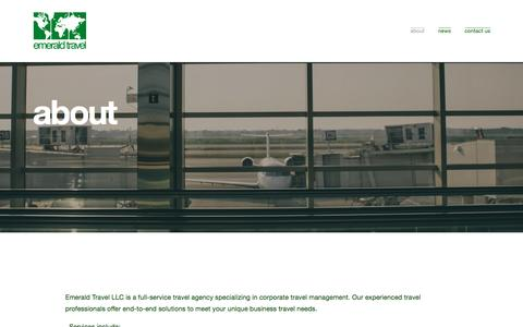 Screenshot of About Page travel-emerald.com - about — emerald travel - captured Nov. 6, 2016