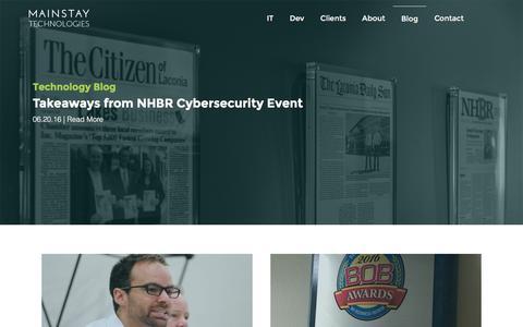 Screenshot of Blog mstech.com - Blog - Mainstay Technologies - captured June 24, 2016