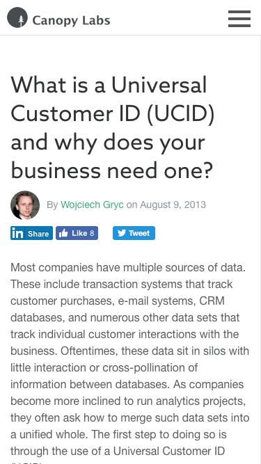 What is a Universal Customer ID (UCID) and why does your business need one? - Canopy Labs