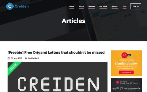 Screenshot of Blog creiden.com - Blog - Creiden - captured Oct. 1, 2015