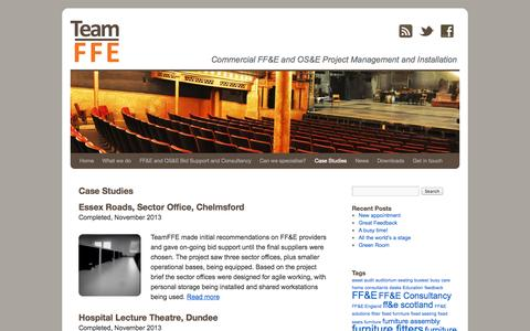 Screenshot of Case Studies Page teamffe.com - Case Studies | Team FFE - captured Oct. 7, 2014
