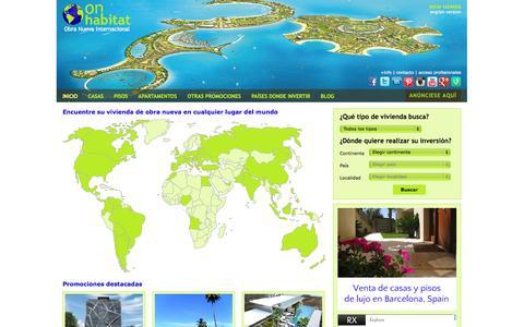 Screenshot of Home Page onhabitat.com - Obra Nueva - Portal inmobiliario internacional. Viviendas de obra nueva. - captured Oct. 2, 2014