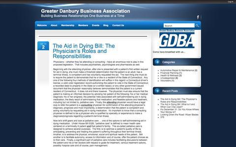 Screenshot of Blog danburybusiness.org - Greater Danbury Business Association - Danbury, CT..Building Business Relationships One Business at a Time - captured Jan. 22, 2016