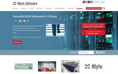 Screenshot of Blog nlyte.com - Nlyte DCIM Blog | Nlyte Software - captured May 9, 2017