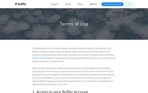 Terms of Service | Buffer