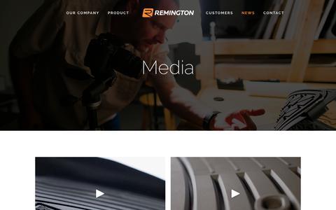 Screenshot of Press Page remingtonind.com - Media — Remington Industries - captured Oct. 21, 2017