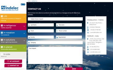 Screenshot of Contact Page indelec.com - Contact Us - Indelec - captured Oct. 21, 2018