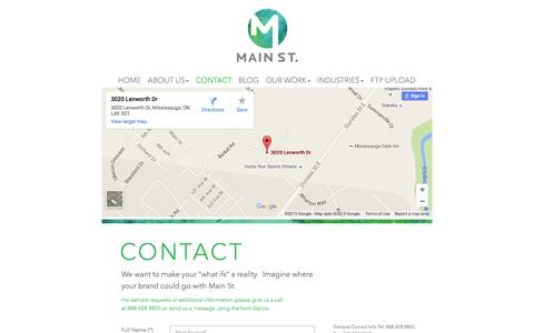 Screenshot of Contact Page mainst-group.com - MAIN ST. Contact Us | MAIN ST. - captured Dec. 17, 2015