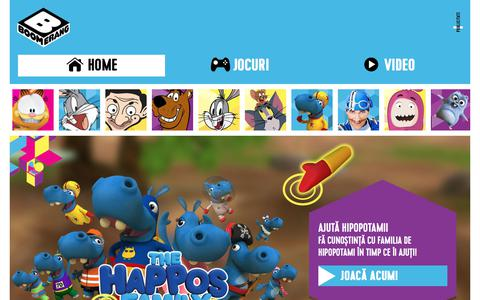 Screenshot of Home Page boomerang-tv.ro - Boomerang | Desene animate, spectacole, jocuri şi imagini video - captured July 1, 2017