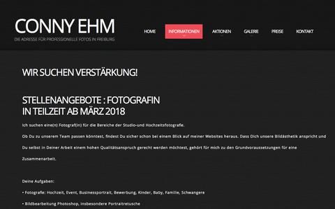 Screenshot of Jobs Page conny-ehm.de - Jobs | Conny Ehm - Photography - captured April 30, 2018