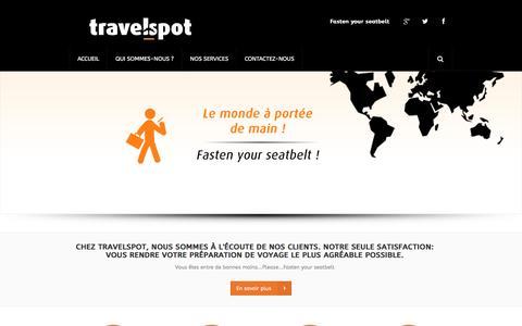 Screenshot of Home Page travelspot.sn - Travelspot - Agence de Voyages à Dakar - Accueil - captured Feb. 24, 2016