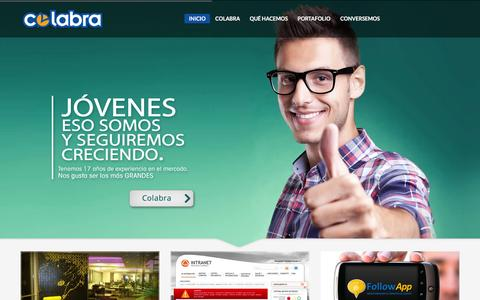Screenshot of Home Page colabra.cl - Colabra - Sistemas Colaborativos - captured Jan. 29, 2016