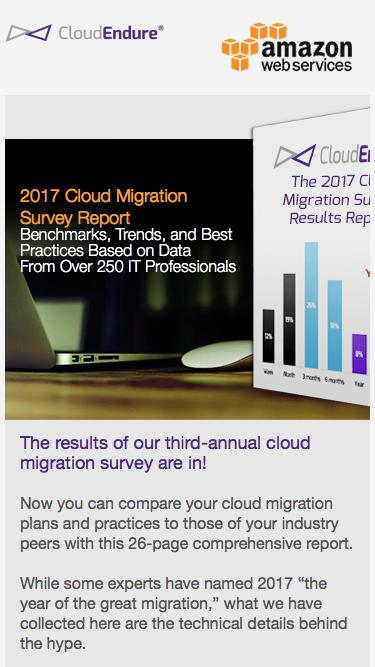 2017 Cloud Migration Survey