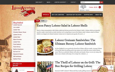 Screenshot of Blog lobsteranywhere.com - Maine Seafood and Cooking Blog from LobsterAnywhere - captured Sept. 1, 2017