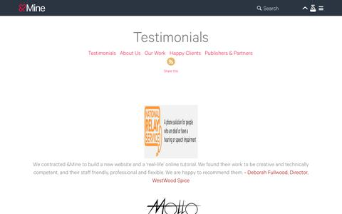 Testimonials   Leading Digital Agency Australia   AndMine