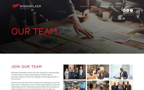 Screenshot of Team Page windwalker.com - Windwalker Group — Windwalker Group Team - captured Oct. 19, 2017