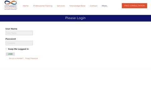 Screenshot of Login Page dynconcepts.com - Login - Dynamic Concepts Development Corporation - captured Oct. 13, 2017