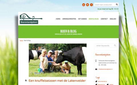 Screenshot of Blog boerenlandgidsen.nl - Boerenblog van Boerenlandgidsen - captured Sept. 30, 2014