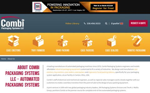 Screenshot of About Page combi.com - About Us   Combi Packaging Systems - captured July 17, 2017