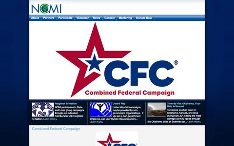 Screenshot of Home Page ncmi.org - NCMI - Home - captured Oct. 7, 2014