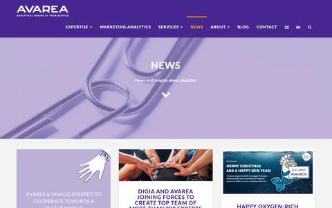 Screenshot of Press Page avarea.fi - news | Avarea Oy - captured Oct. 4, 2018