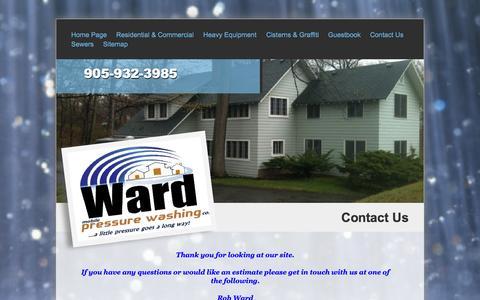 Screenshot of Contact Page wardpressurewashing.com - contact page - captured Oct. 7, 2014