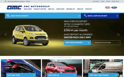 Screenshot of Home Page omcmotorgroup.co.uk - First for Ford Oldham, Manchester and Rochdale - OMC Ford - captured Aug. 12, 2016