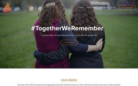 Screenshot of Home Page coalitionforpreservingmemory.com - Coalition for Preserving Memory - captured Oct. 12, 2015