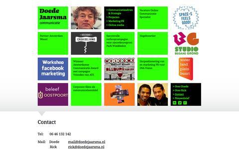 Screenshot of Contact Page doedejaarsma.nl - Contact   Doede Jaarsma - captured Oct. 5, 2014