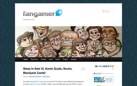 Screenshot of Blog fangamer.com - Fangamer | Professional Fans. - captured Sept. 19, 2014