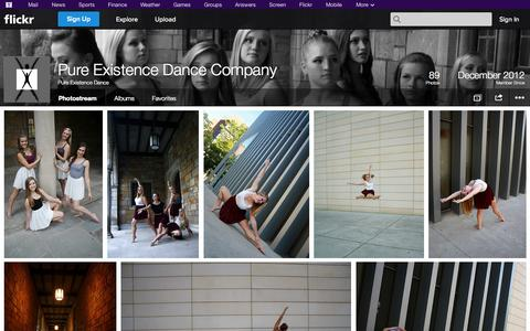 Screenshot of Flickr Page flickr.com - Flickr: Pure Existence Dance's Photostream - captured Oct. 23, 2014