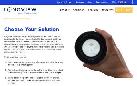 Choose Your Solution | Longview