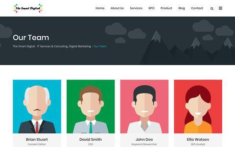 Screenshot of Team Page thesmartdigital.com - Our Team - The Smart Digital - IT Services & Consulting, Digital Marketing - captured Dec. 13, 2018