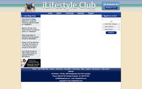 Screenshot of Support Page ilifestyleclub.com - Support - iLifestyle Club - captured Sept. 30, 2014