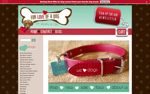 Screenshot of Home Page forloveofadog.com - Dog Lover Jewelry for People Gifts For Dogs - captured Jan. 28, 2015