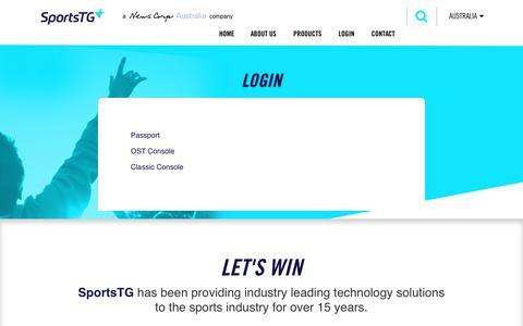 Screenshot of Login Page sportstg.com - Login – SportsTG - captured April 12, 2017