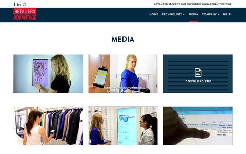 Screenshot of Press Page retailersadvantage.com - Media - Retailers Advantage, Tailored Security & Inventory Management - captured Oct. 22, 2017
