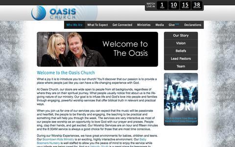Screenshot of About Page oasischurch.tv - Christian Ministry Opportunities, Church Nashville Tn  | Oasis Church - captured Oct. 7, 2014