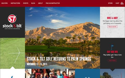 Screenshot of Home Page stackandtilt.com - Improve Your Golf Swing | Stack & Tilt Golf | Stack & Tilt Golf - captured Oct. 9, 2015