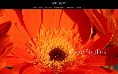Screenshot of Case Studies Page adrispyker.com - Case Studies   Adri Spyker - captured Nov. 20, 2016