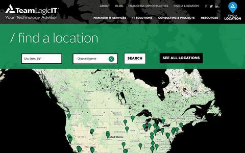 Screenshot of Locations Page teamlogicit.com - TeamLogic IT Locations | TeamLogic IT - captured Oct. 29, 2014