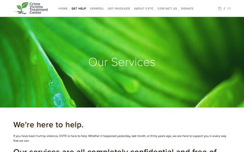 Screenshot of Services Page cvtcnyc.org - Our Services — CVTC - captured May 20, 2016